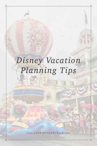 Disney Vacation Planning Pt 2