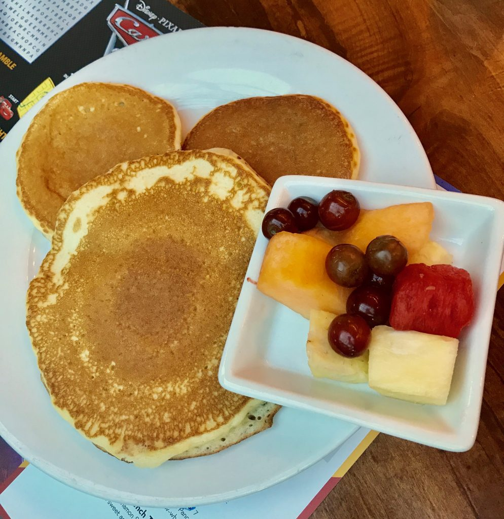 Food at Disney World Mickey Pancakes