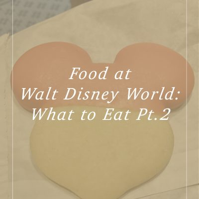 Food at Disney World: What to Eat Part 2