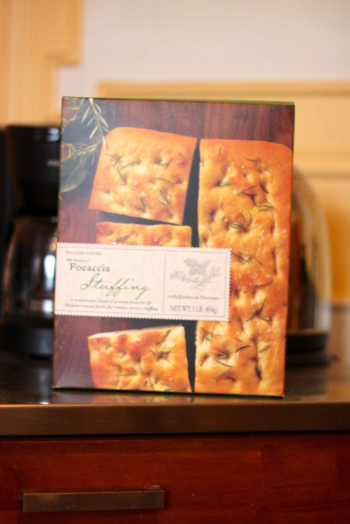 Favorite Things Focaccia Thanksgiving Stuffing