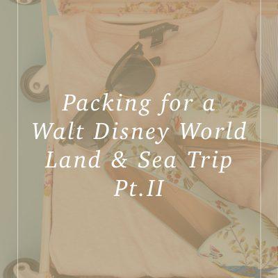 Packing for Walt Disney World – Land & Sea Trip Pt. II