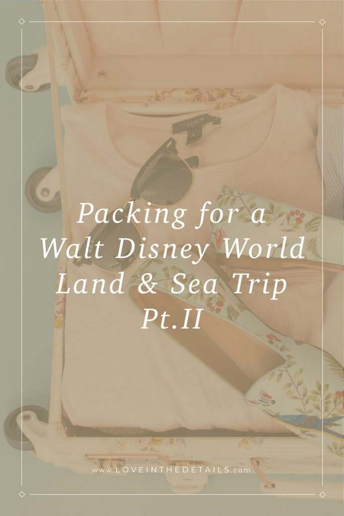 Packing for Walt Disney World